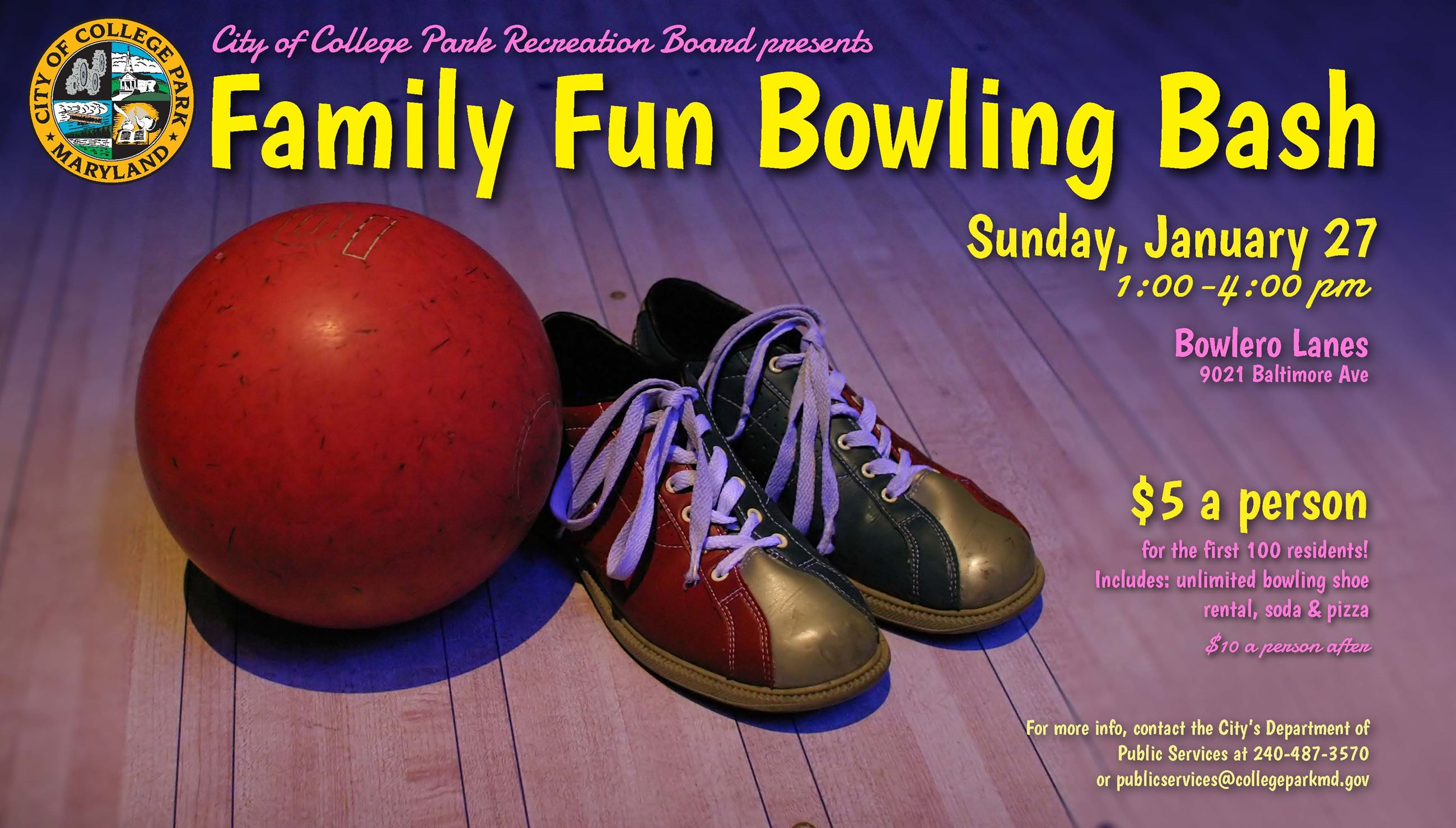 2019 bowling bash flyer