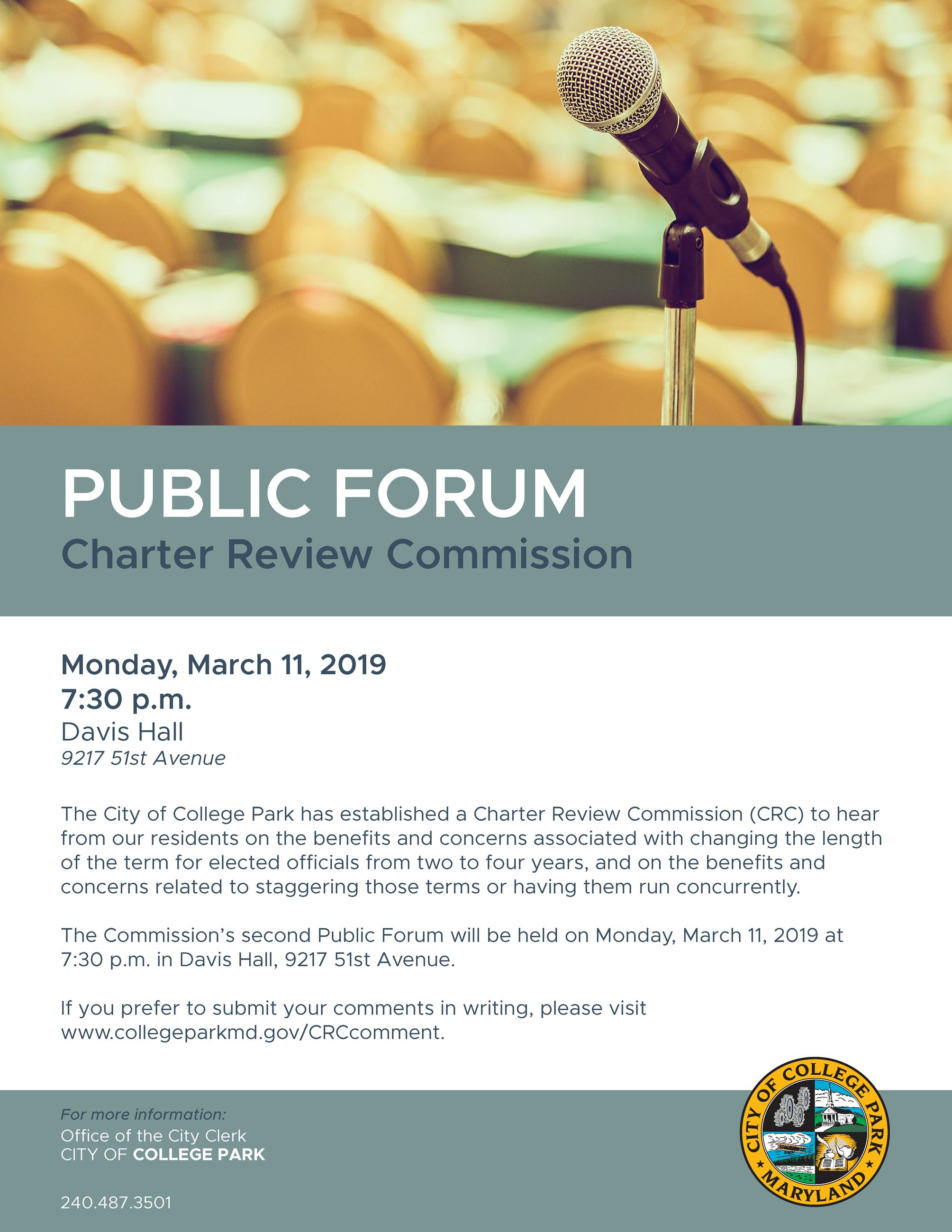 Public Forum 2 - Charter Review Commission