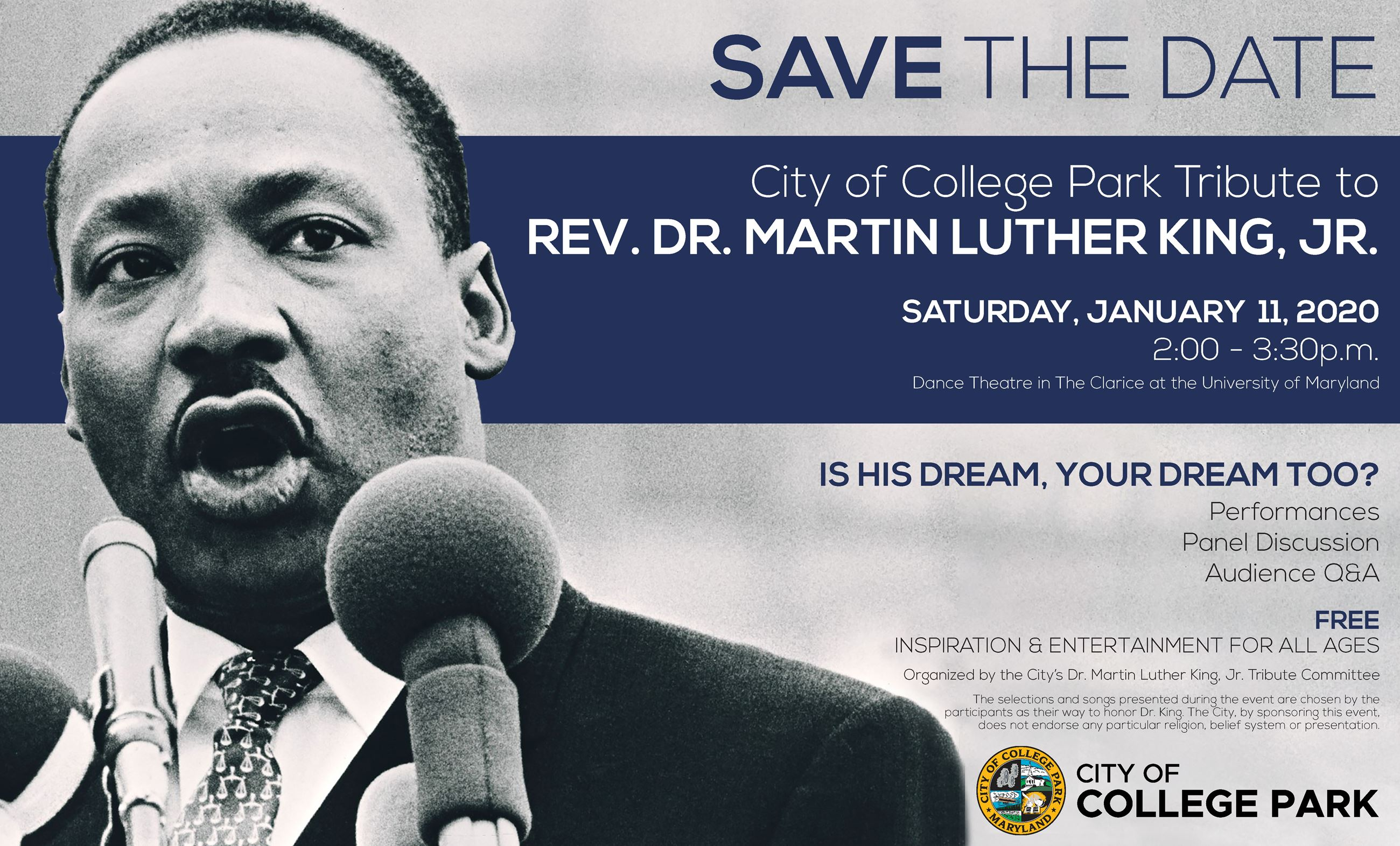 2020 MLKJr Tribute Event Save the Date