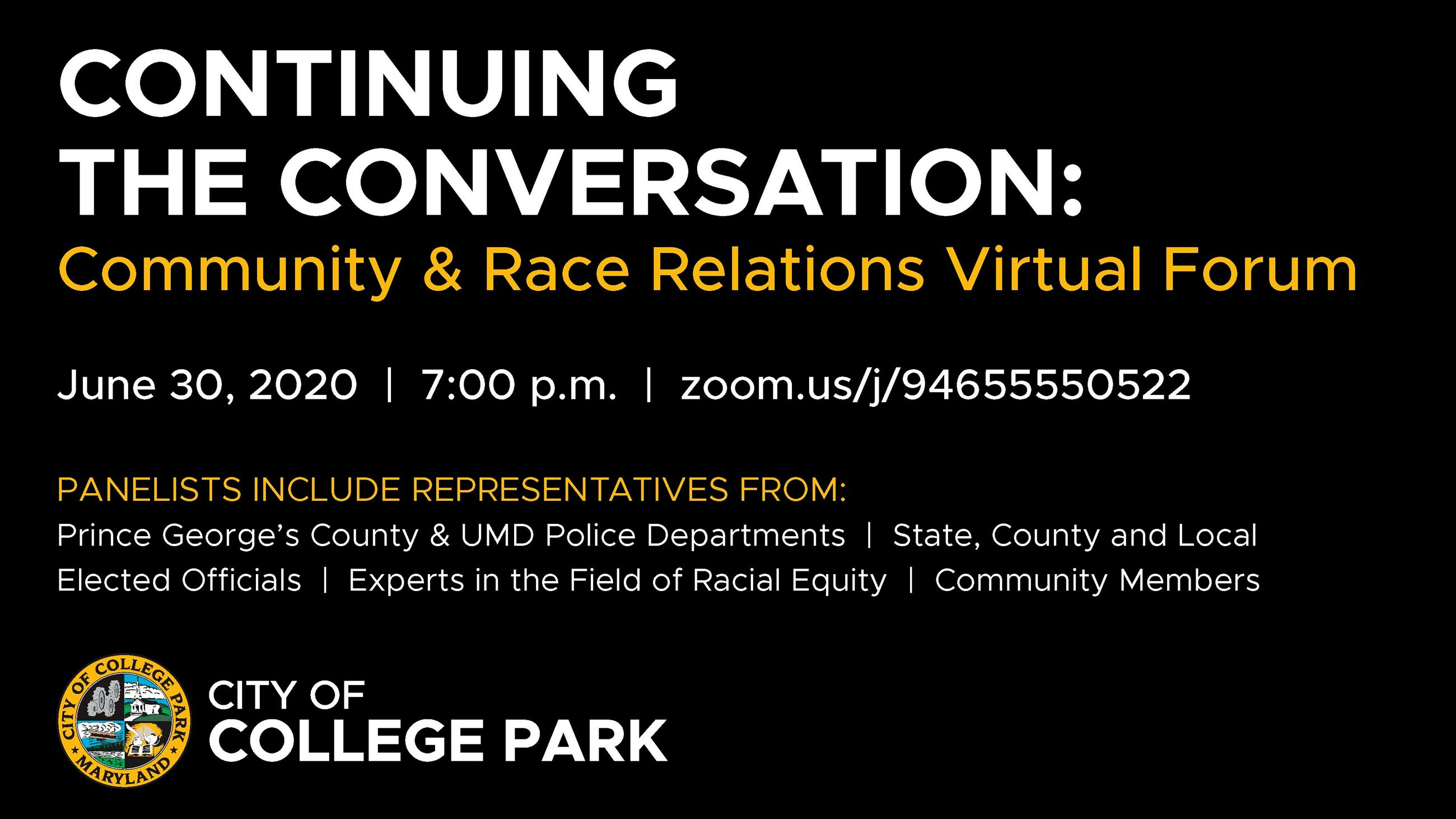 Continuing the Conversation Virtual Forum